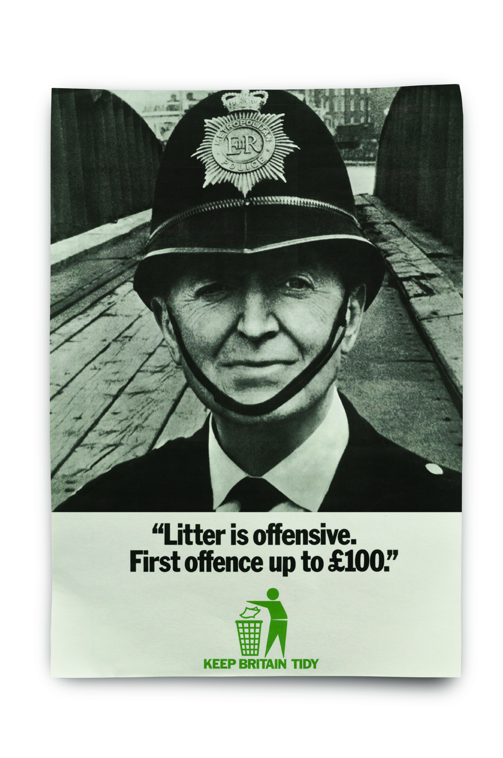 A poster by Keep Britain Tidy featuring a policeman