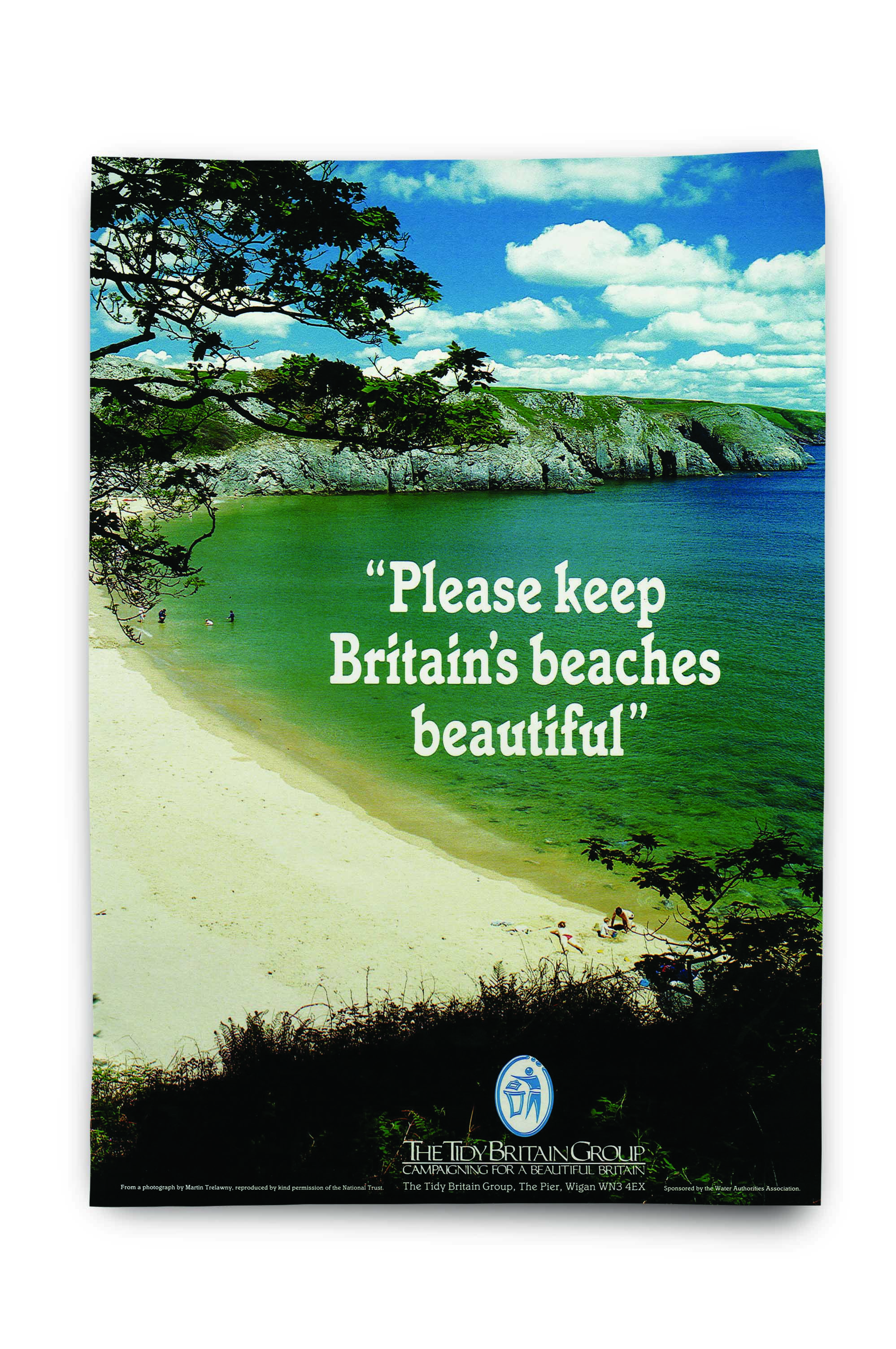 An image of a Blue Flag campaign poster by Keep Britain Tidy
