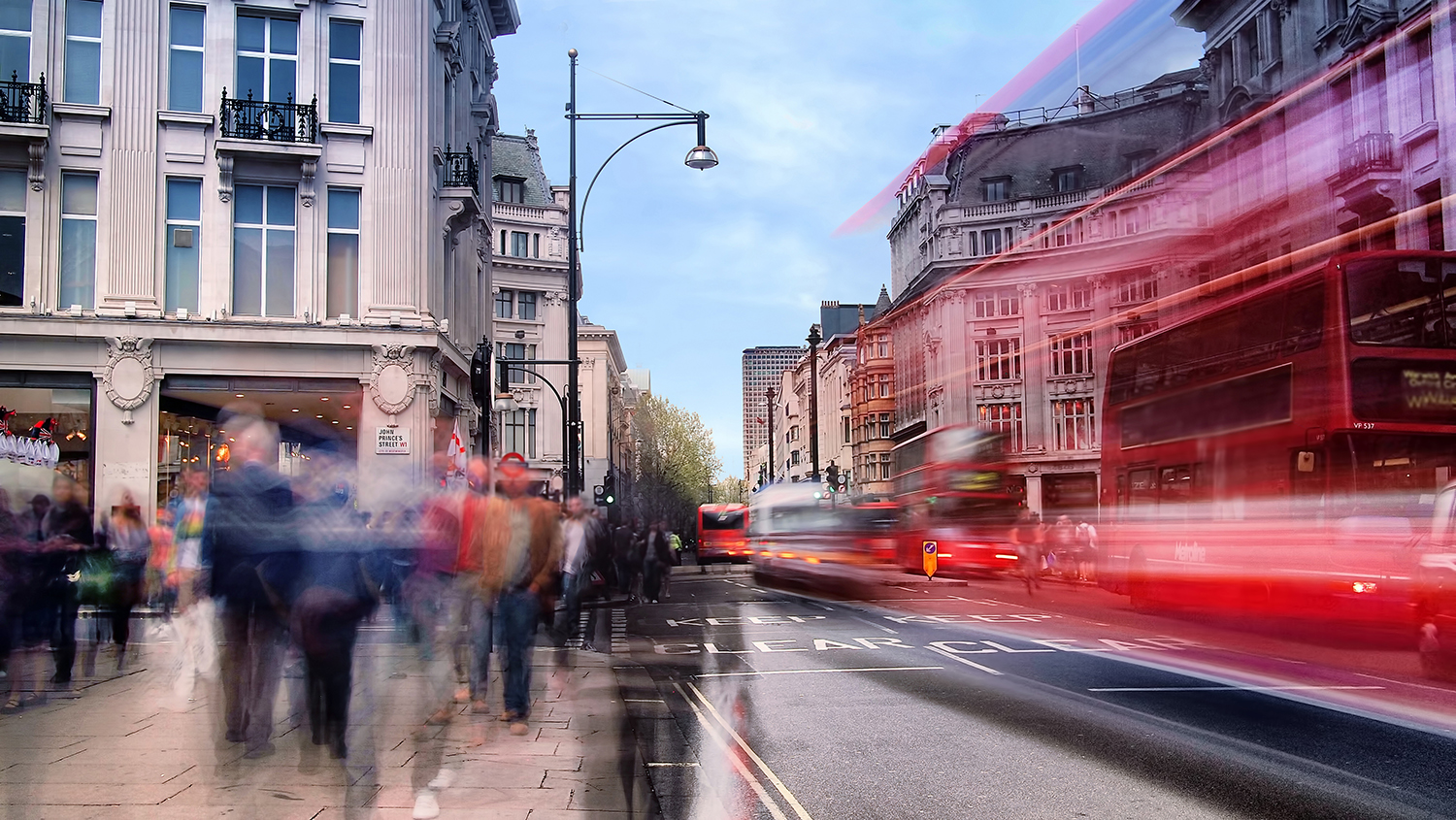 An image of Oxford Street, London