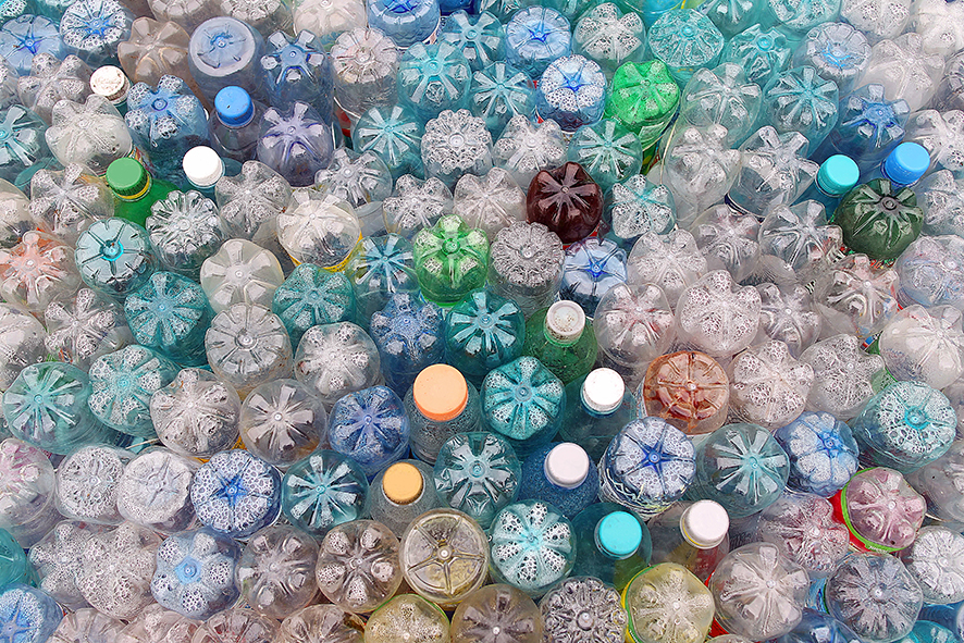 Some of the billions of single-use bottles used every year