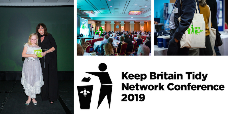 A collage of images from the Keep Britain Tidy Network conference and awards