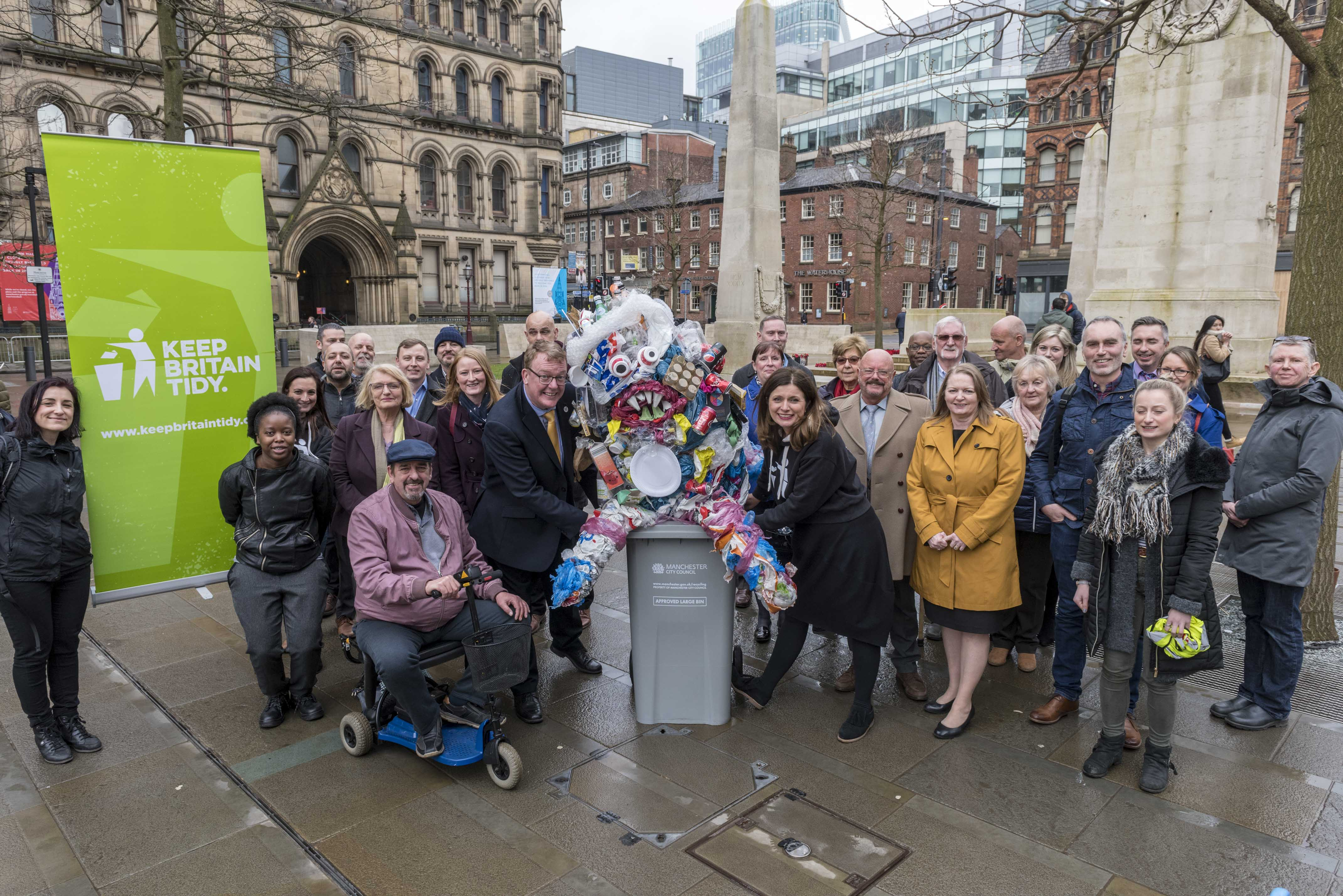 Launching Keep Manchester Tidy