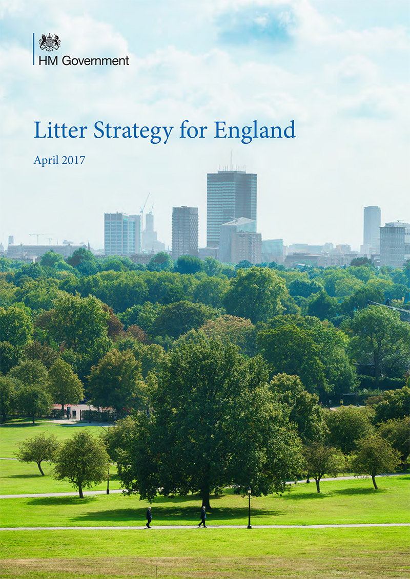 An image of the front cover of the Litter Strategy for England